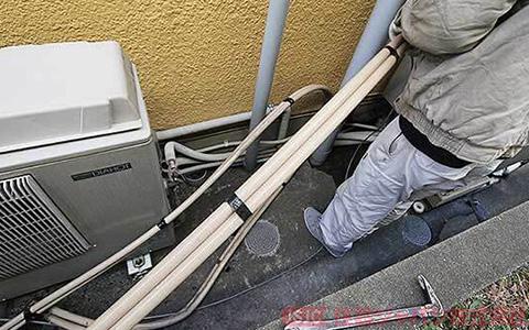 既存エコキュートの浴室配管の取り外し4