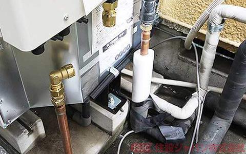 エコキュートの給湯配管の接続2