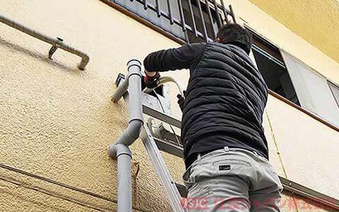 エコキュートの浴室配管の接続3
