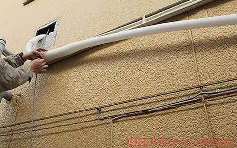 エコキュートの浴室配管の接続4
