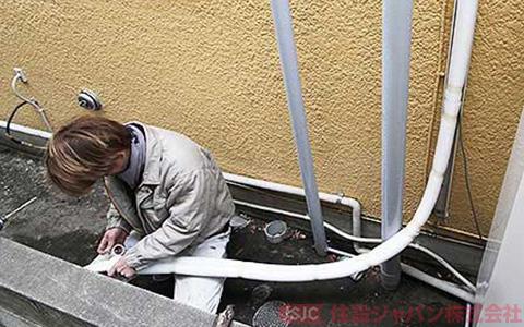 エコキュートの浴室配管の接続5
